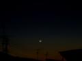 [宇宙][天文][月][夕焼け][空]夕空に月齢2の月