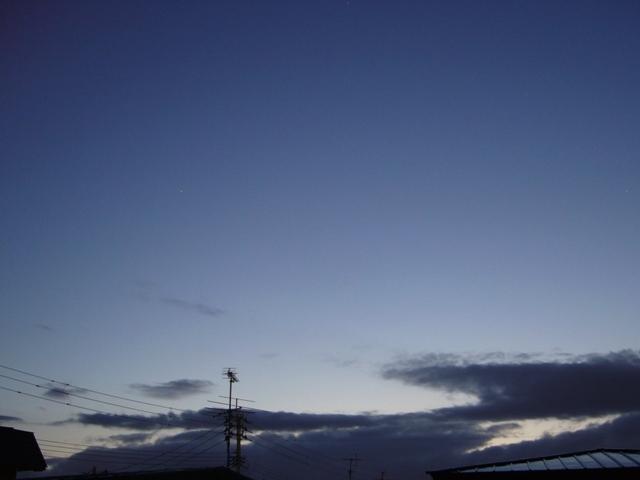 夕方の青空