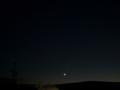 [宇宙][天文][月][空]細い月とISS 1