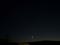 細い月とISS 1