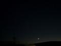 [宇宙][天文][月][空]細い月とISS 2