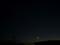 細い月とISS 2