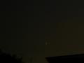 [宇宙][天文][月]細い赤い月