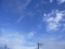 台風一過の朝の青空