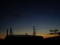 [宇宙][天文][夕焼け][空]夕焼け空の宵の明星