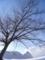 雪の日の晴れた空