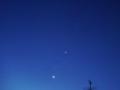 [宇宙][天文][空]夜明けのISSと金星・木星