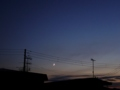 [夕焼け][天文][空][月]夕空の三日月