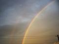 [空][夕焼け][虹]台風の後の虹1