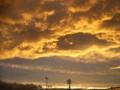 [空][夕焼け][秋]台風の後の夕焼け雲1