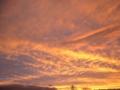 [空][夕焼け][秋]台風の後の夕焼け雲4