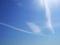 飛行機雲の軌跡