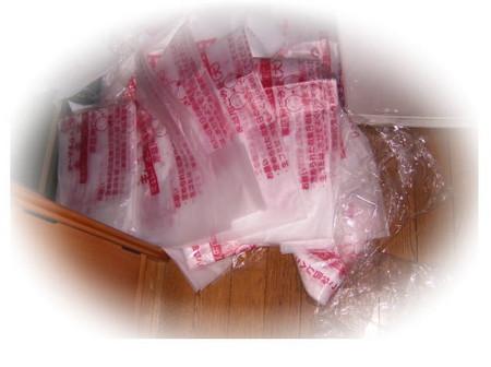 ゴミ袋をハルの手で引っかき破り、中の20枚をバラバラに散らかした写真