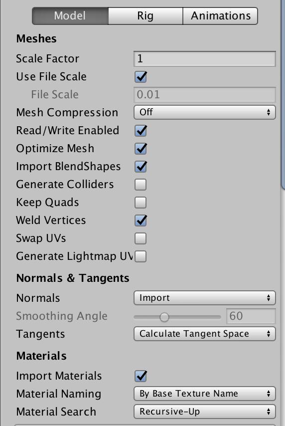 Unity】FBX Importerをちゃんと理解する - Model編 - LIGHT11