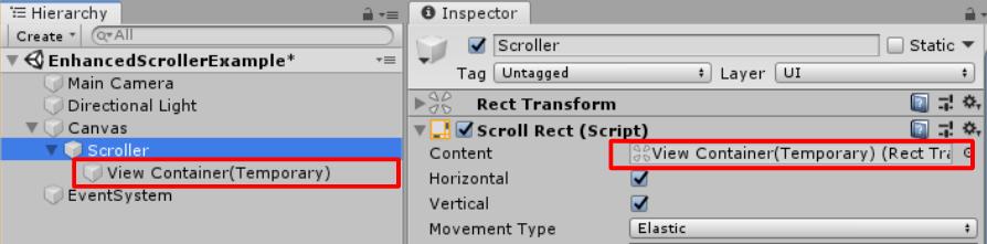 Unity】uGUIでスクロールビューを実装するならコレ!Enhanced Scrollerを