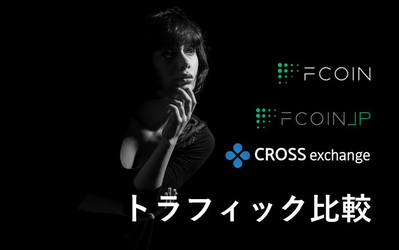 【比較】トラフィック(FCoin、FCoinJP、CROSS exchange)