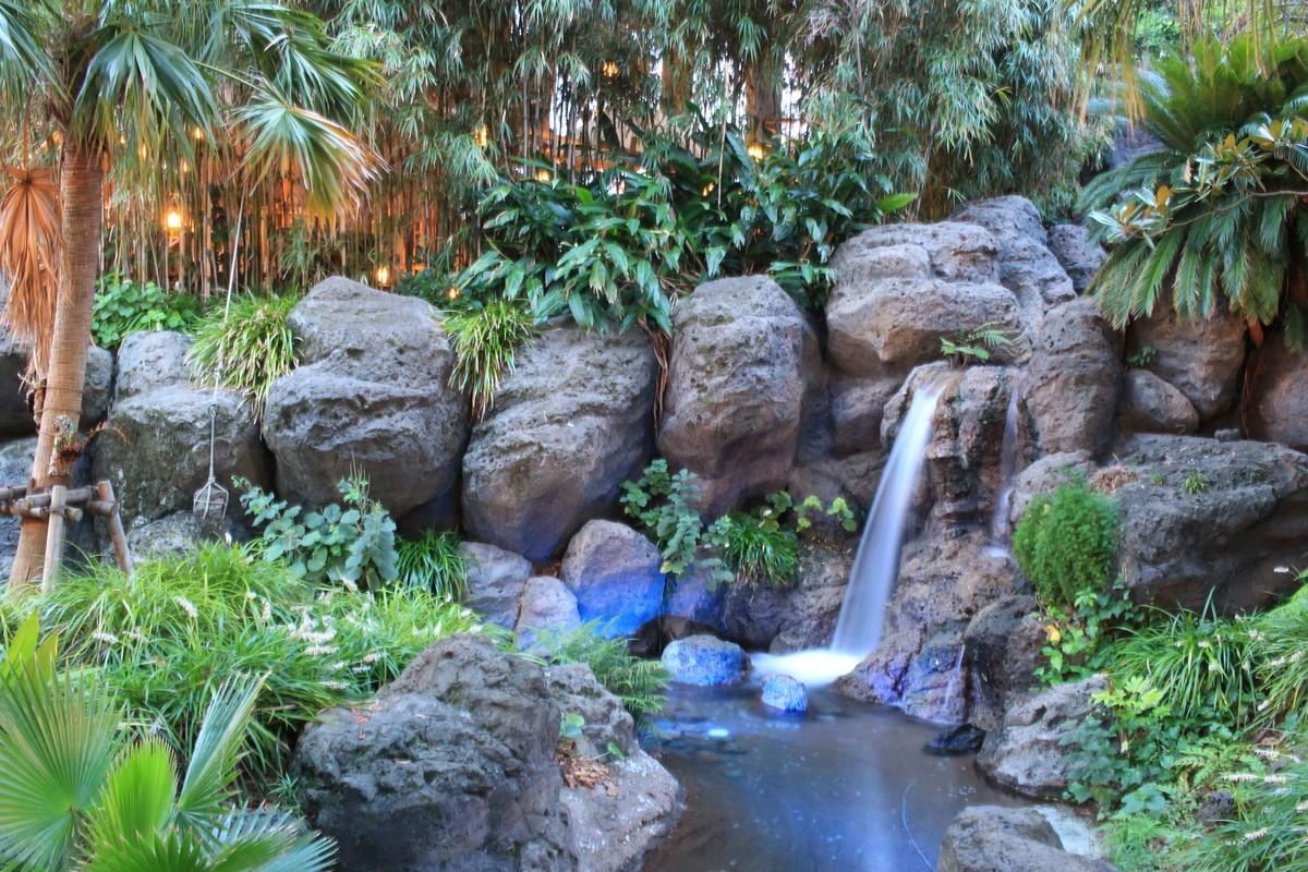 ディズニーランドの滝