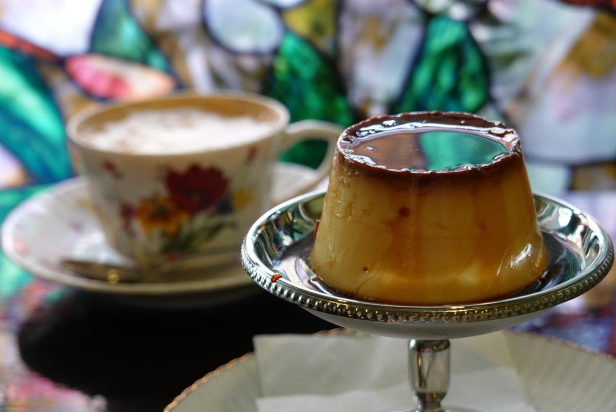 喫茶アンバー 特製プリン