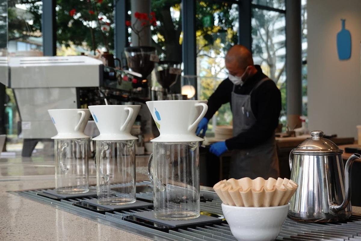 ブルーボトルコーヒー みなとみらいカフェ エスプレッソマシン