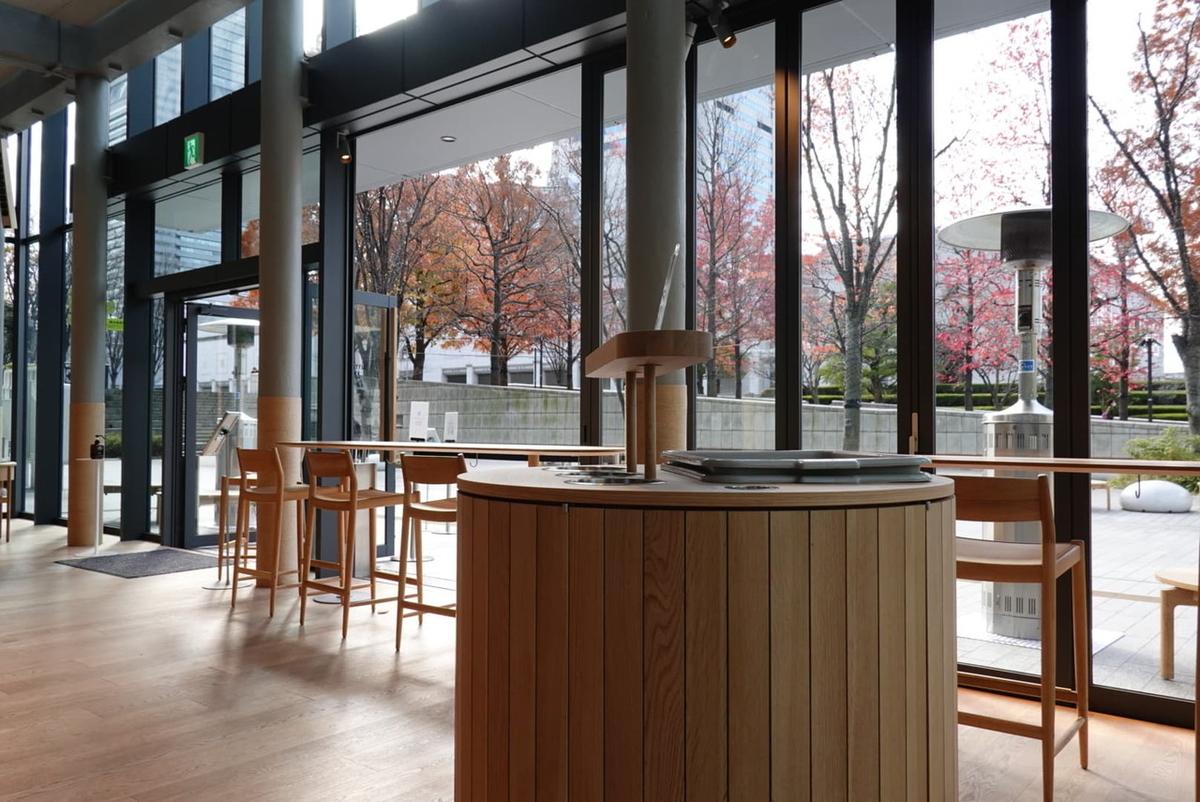 ブルーボトルコーヒー みなとみらいカフェ カウンター