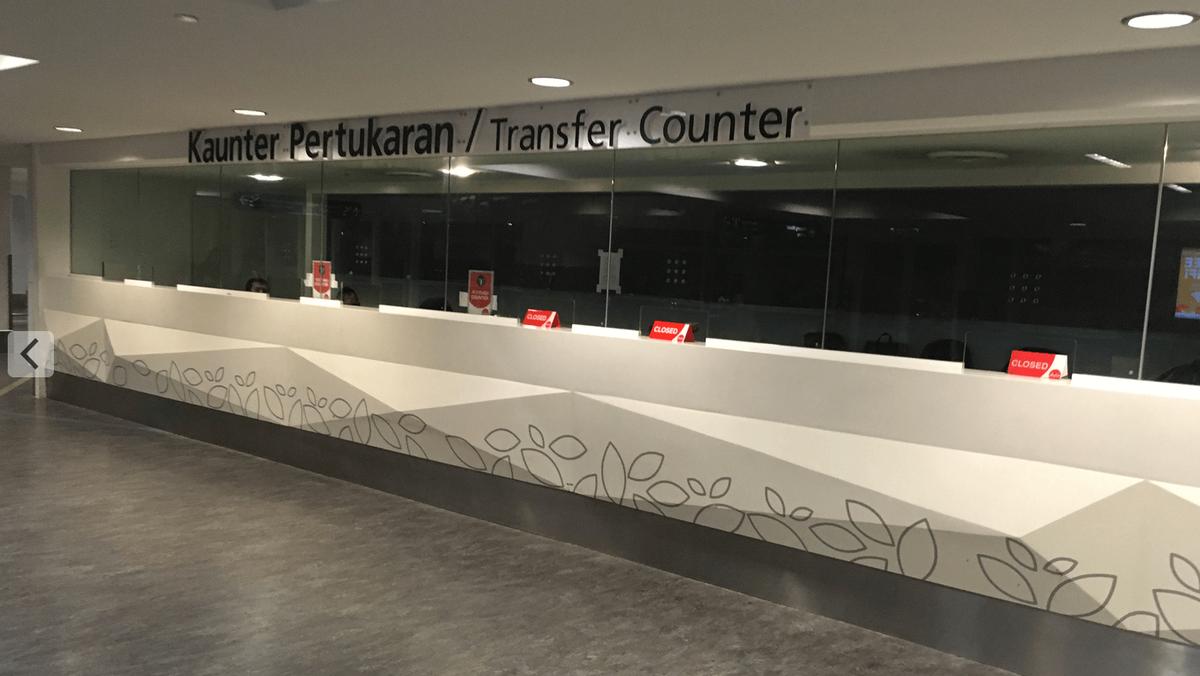 クアラルンプール国際空港トランジットカウンター