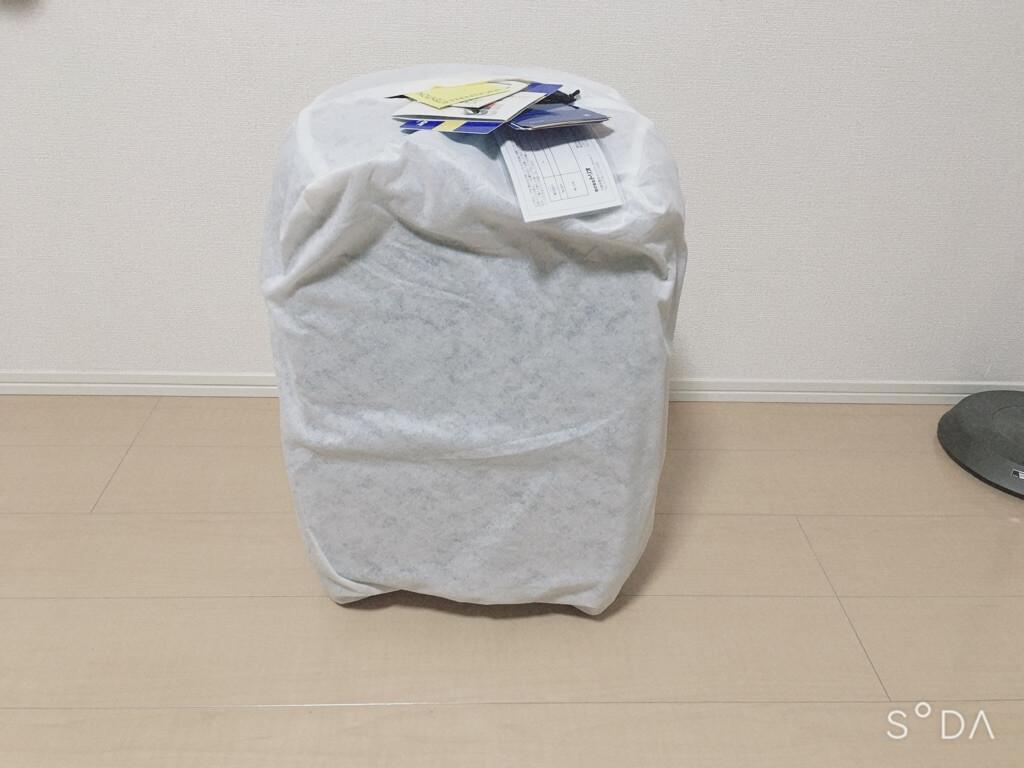 ネットで注文したスーツケースの梱包状況