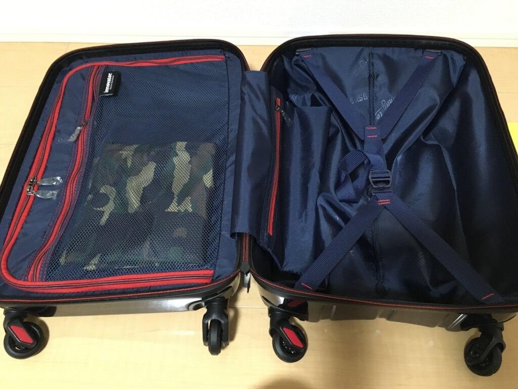 イノベーターのスーツケースの収納