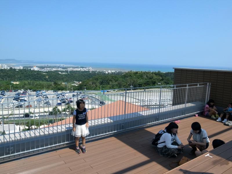 屋上テラスから見える海