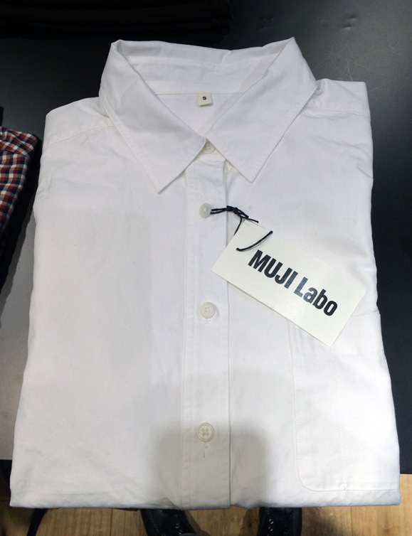 無印良品 ボタンダウンシャツ K1147 青 / ブルー MUJI 無地