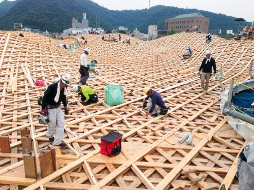 木格子屋根
