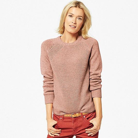 WOMEN ヒートテッククルーネックセーター