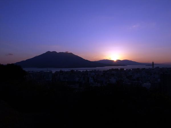 城山観光ホテルからの日の出