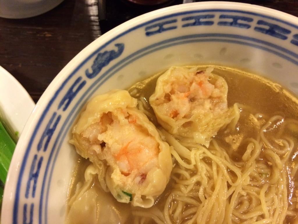 沾仔記(ティム・チャイ・キー)ワンタン麺2