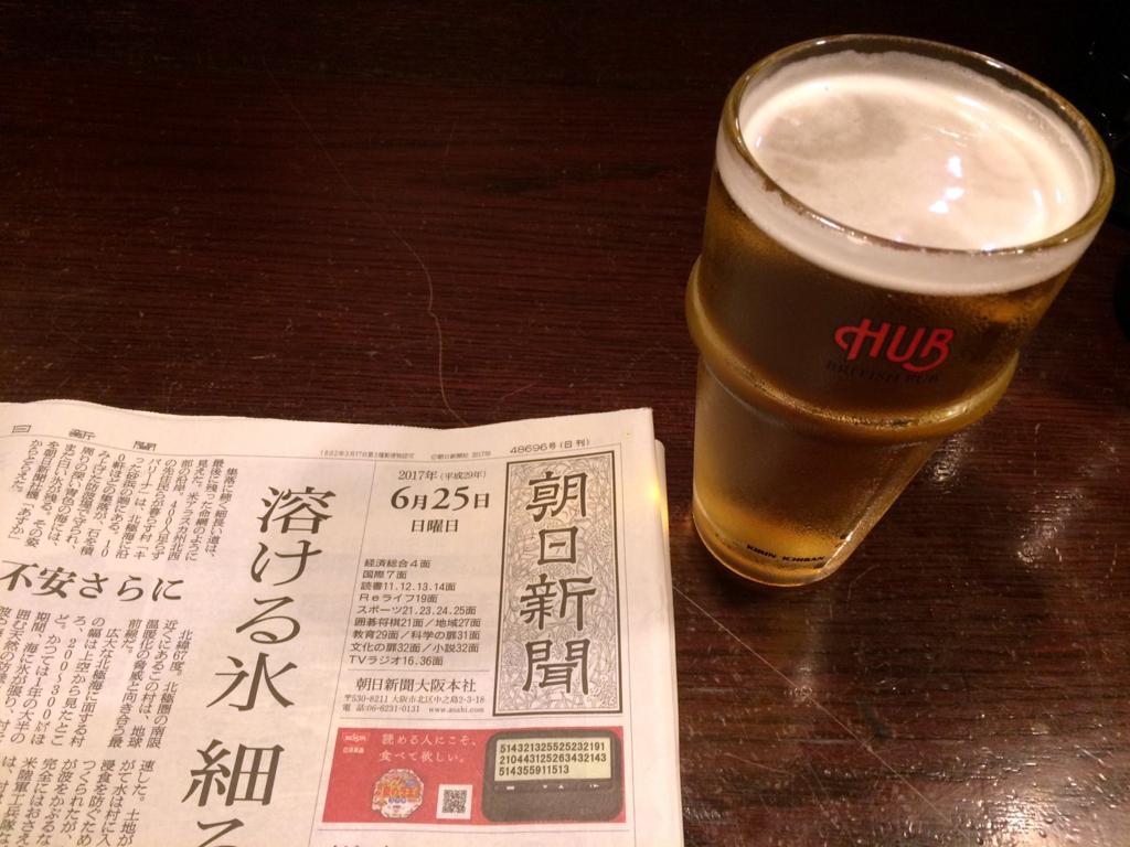 HUB 3/4パイント生ビール