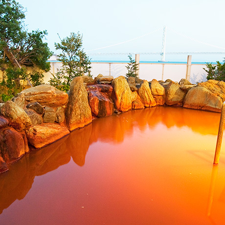 龍の湯 茶褐色の風呂