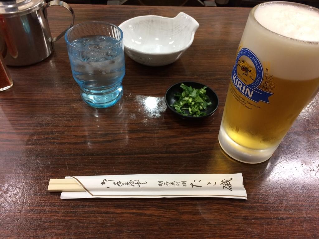 明石焼き たこ磯 ビール