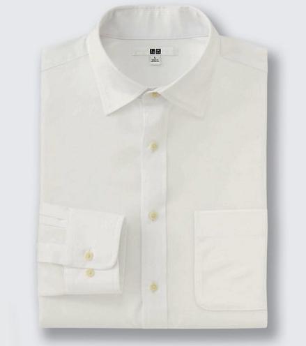 ファインクロスブロードシャツ セミワイドカラータイプ
