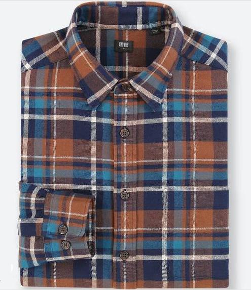 ユニクロ フランネルチェックシャツ