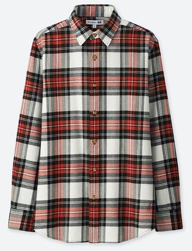 伝統チェック柄のフランネルシャツ1