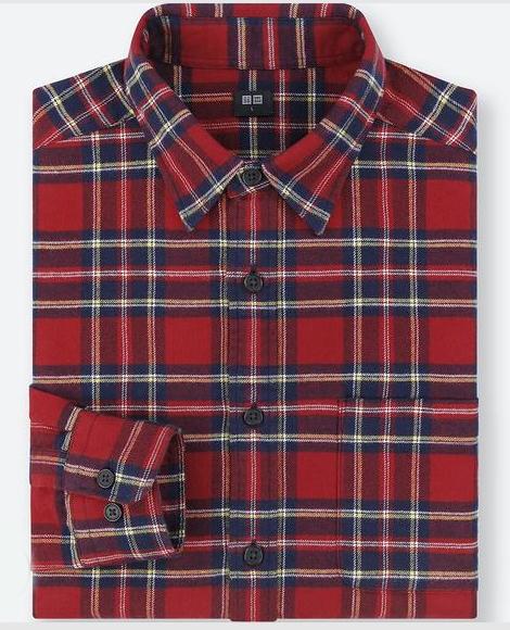 伝統チェック柄のフランネルシャツ2