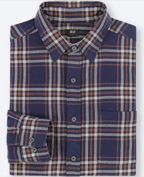 伝統チェック柄のフランネルシャツ3