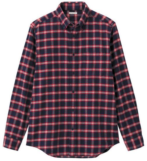 伝統チェック柄のフランネルシャツ4
