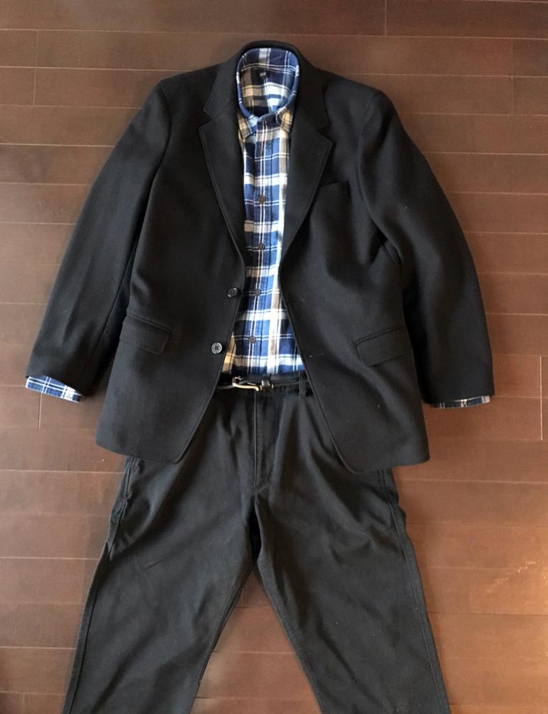 ユニクロのネルシャツ コンサバ系コーデ2