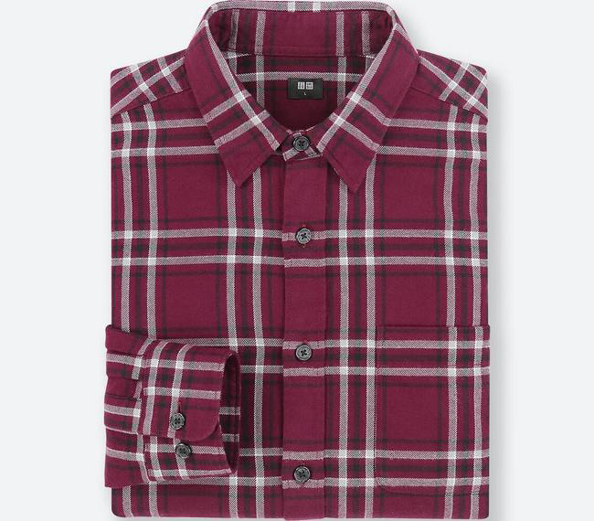 フランネルチェックシャツ(ワイン)