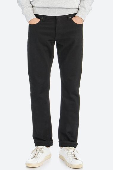 ストレッチセルビッジスリムフィットジーンズ09 BLACK