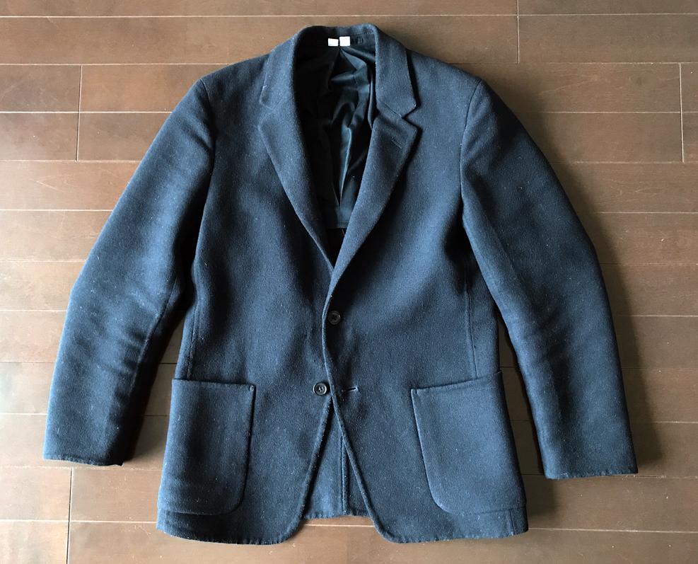 ユニクロユーの紺のコンフォートジャケット