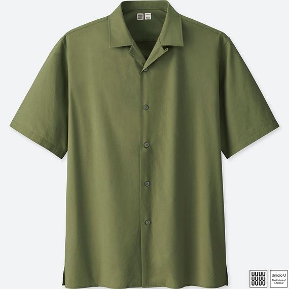 ユニクロユーのオープンカラーシャツ(半袖)
