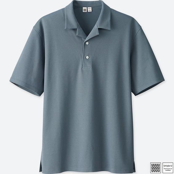 スーピマコットンオープンカラーポロシャツ(半袖)