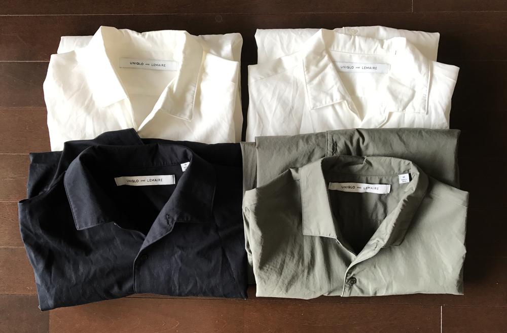ユニクロルメールのオープンカラー(開襟)シャツ
