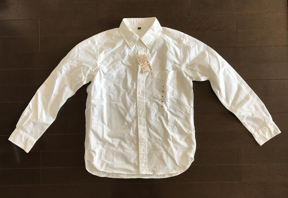 無印良品のオックスフォードボタンダウンシャツ・白